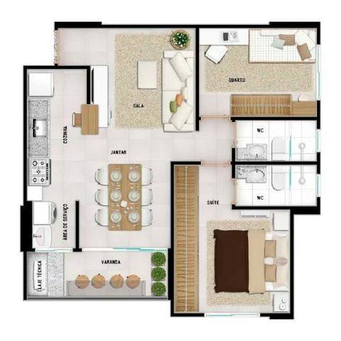 Apartamento 2 Quartos (1 suite ) Parque Cascavel e Proximo ao Buriti - Foto 13