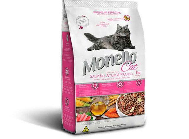 Ração Monello Cat Salmão, Atum e Frango 7kg