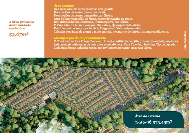 62# Casas com 54M² em condomínio com academia e... - Foto 6