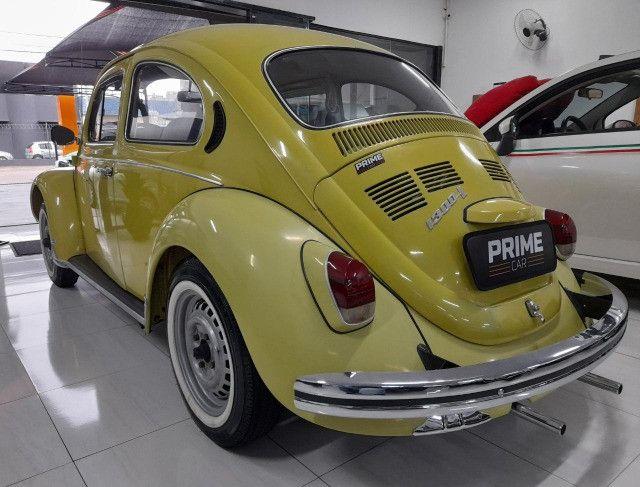 Fusca 1300L 1977 - Placa preta 100% original - Foto 5