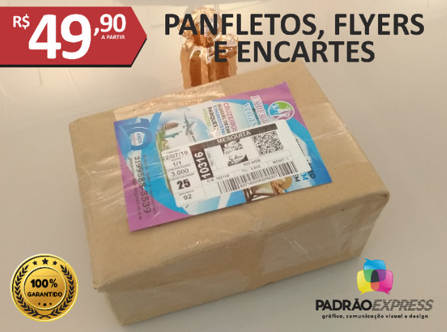 Panfletos, flyers, folhetos, prospectos, encartes, folder - Foto 3