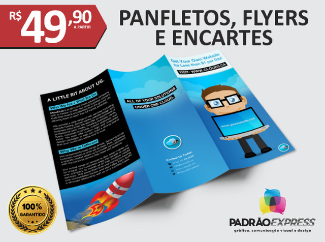 Panfletos, flyers, folhetos, prospectos, encartes, folder