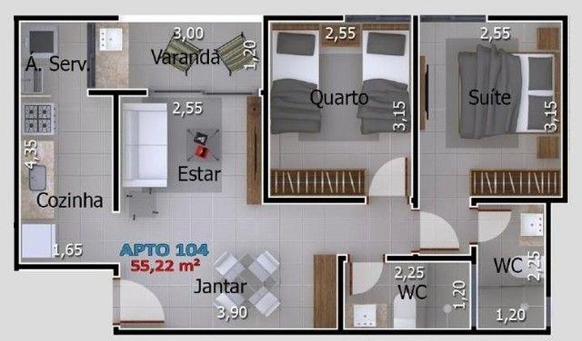 Apartamentos com 2 quartos no Portal do Sol/Quadramares - Foto 7