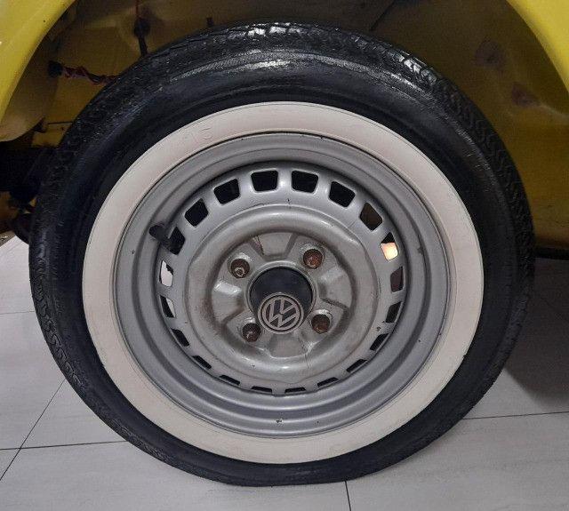 Fusca 1300L 1977 - Placa preta 100% original - Foto 11