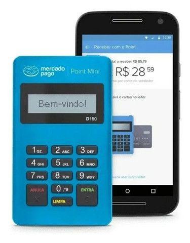 Maquininha de cartão sem mensalidades Point mini - Mercado Pago - Foto 4
