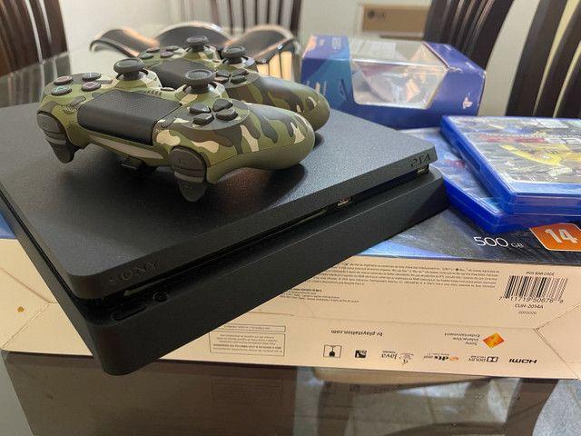Playstation 4 ps4 com 2 controles - Foto 2