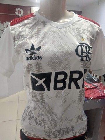 Camisas Exclusivas Flamengo Infantil Feminina - Foto 4