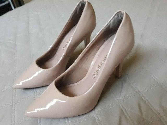 Sapato Scarpin Bico Fino Rosê