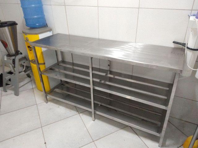 Mesa de inox coifa estante  - Foto 3