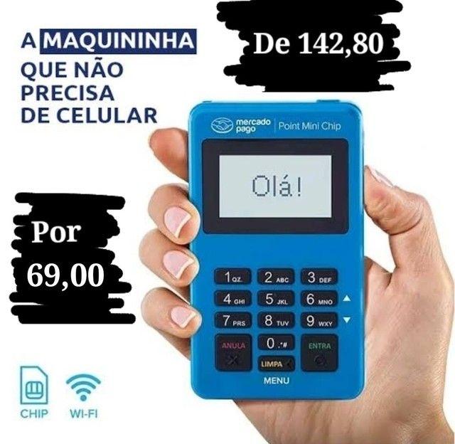 Máquina Point Mini Chip Mercado_ Pago Não precisa de celular - Foto 2