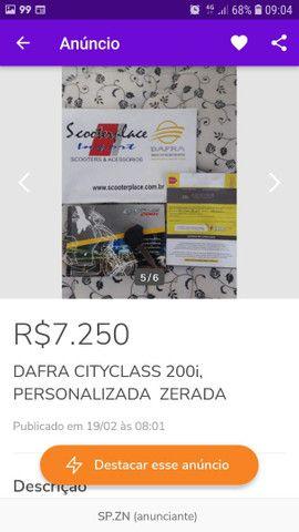 Dafra Cityclass 200i 2016,  Personalizada envelopada e ZERADA  - Foto 12
