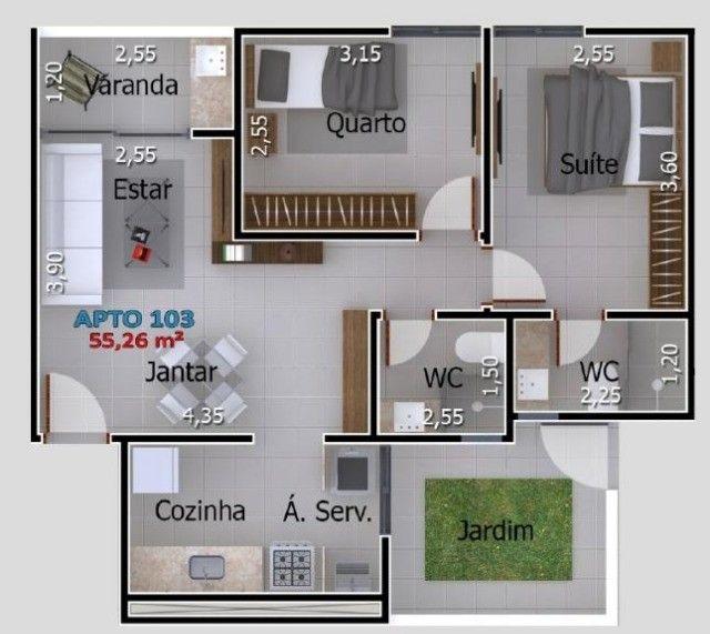 Apartamentos com 2 quartos no Portal do Sol/Quadramares - Foto 8