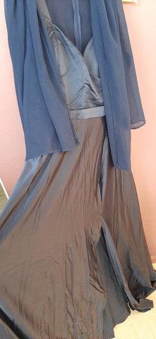 Vestido de festa GG com fenda - Foto 2