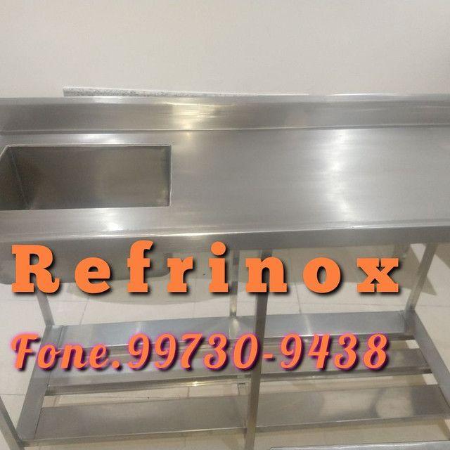Mesa em inox coifa em inox Exaustor - Foto 4