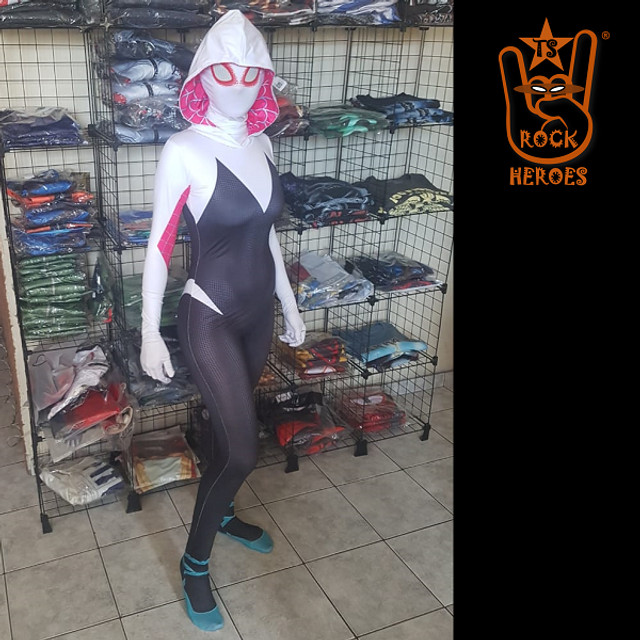 Fantasia Spider Gwen Cosplay Aranhaverso Infantil e Adulto - Foto 2