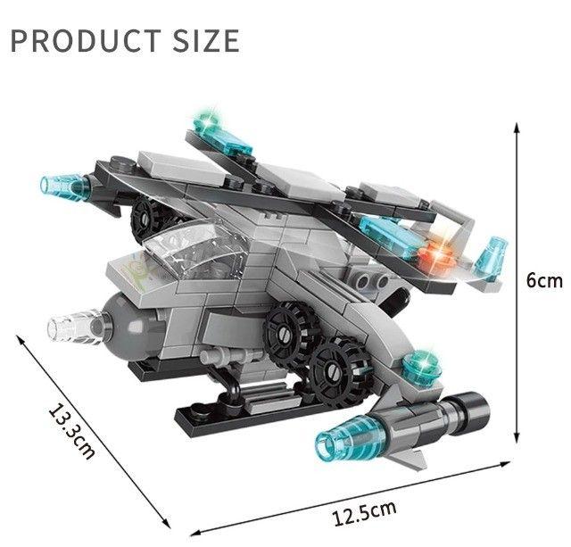 Blocos De Montar 6 Em 1 Presente Dia Das Crianças Lego - Foto 2
