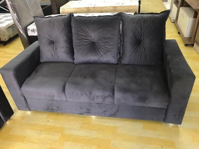 Frete Gratis*Conjunto Sofa Animalle 2 e 3 Lugares, Novo!! - Foto 2