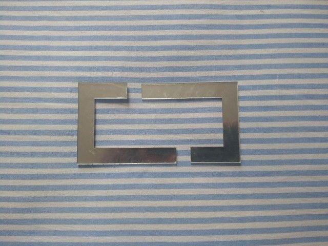 Faixinha de acrílico Prata espelhado - Foto 4