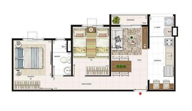 Vista alegre, iraja, Lançamento apartamento 2 Qts, entrada parcelada, faça simulação - Foto 3