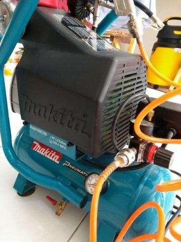 Compressor de ar Makita mac 700 - com acessórios (220v) R$ 1.100,00 - Foto 4