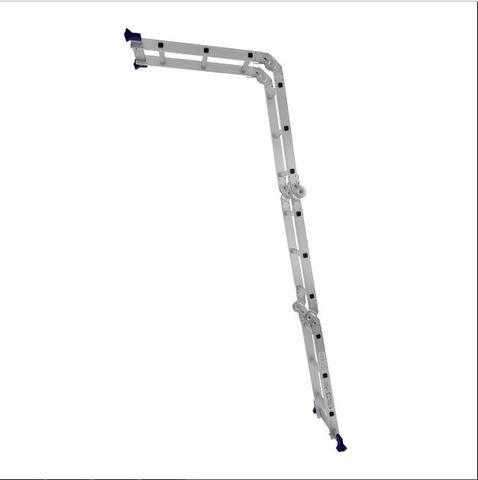 Escada Articulada Dobrável Em Alumínio 12 Degraus Mor - Foto 2