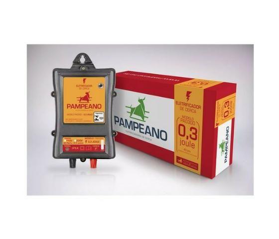 Eletrificador Rural Pampeano Pa300 12V 45KM(Solar ou Bateria) - Foto 3
