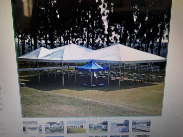 Tenda piramidal 12 por 12 completa com paredes. - Foto 2