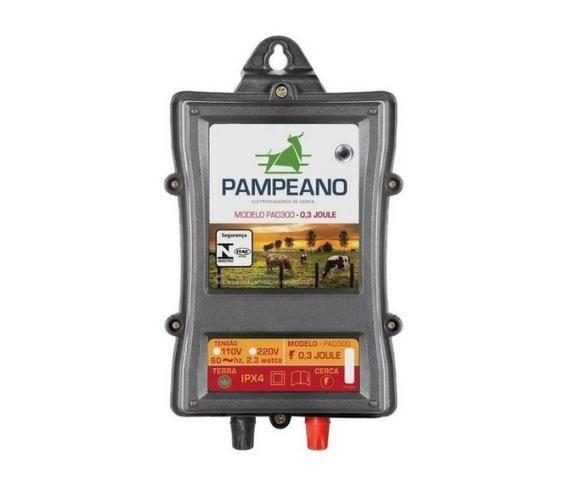Eletrificador Rural Pampeano Pa300 12V 45KM(Solar ou Bateria)