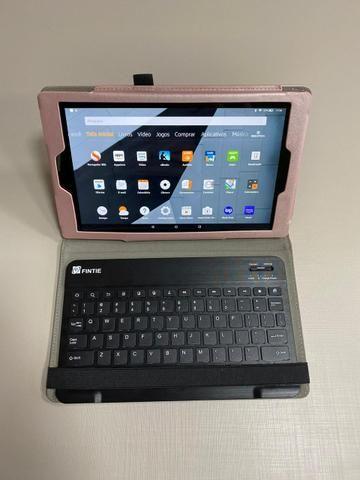 Amazon Fire HD 10 Tablet 10.1? com Alexa Hands-free 1080p 32GB + Fintie Teclado Case - Foto 6