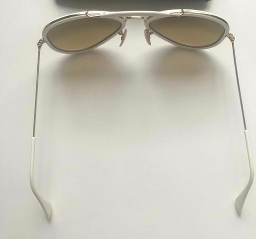 fe7eaf5399c95 Óculos original Ray-Ban aviador branco - Bijouterias
