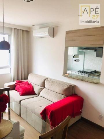 Apartamento 100% mobiliado com 2 dormitórios para alugar, 47 m² por R$ 1.850/mês - Ponte G - Foto 3