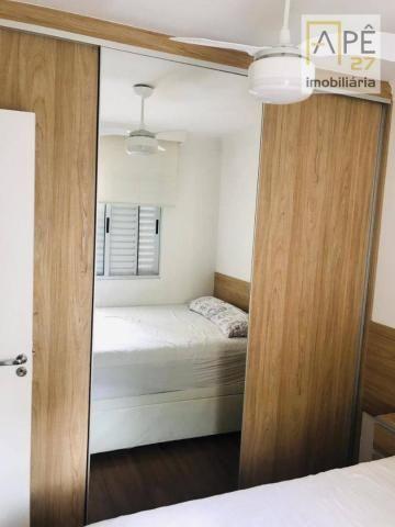 Apartamento 100% mobiliado com 2 dormitórios para alugar, 47 m² por R$ 1.850/mês - Ponte G - Foto 7