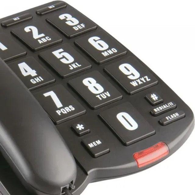 Telefone Com Fio Tok Fácil Com Teclas Grandes Intelbras - Foto 2
