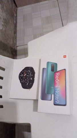 Celular xiaomi redmi not 9 128gb com relógio smartwatch