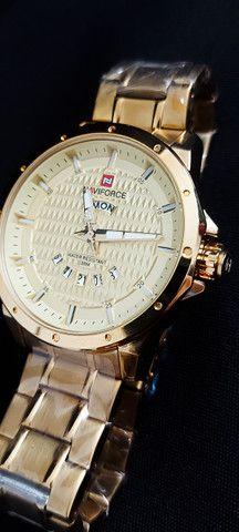 Relógio Dourado Naviforce NF9115M - Foto 2