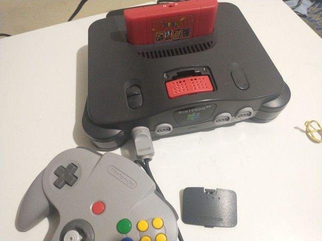 Nintendo 64 com everdrive e expansor pac