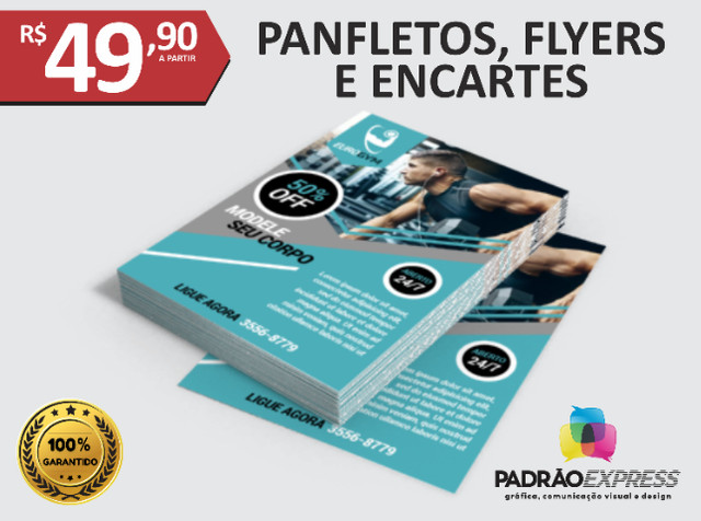 Panfletos, flyers, folhetos, prospectos, encartes, folder - Foto 2