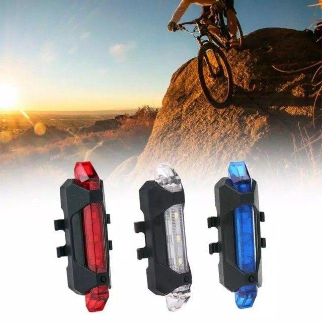 Farol dianteiro + Led traseiro para bike bicicleta (retirada no jordão) - Foto 3