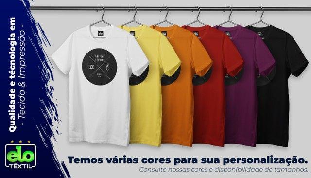 Camisas Personalizadas a Partir de 5 Unidades em Malha 100% Algodão Penteado - Serigrafia - Foto 2