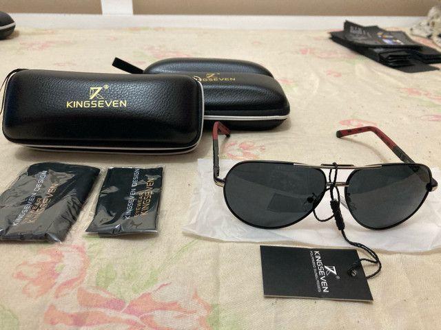 Óculos de Sol Polarizado KingSeven Original  - Foto 2