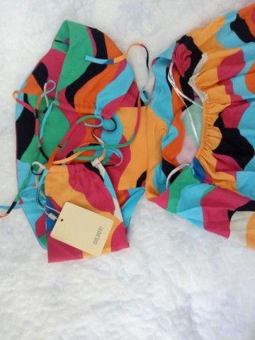 Vestido Estampado Waves Midi Tamanho P - Foto 3