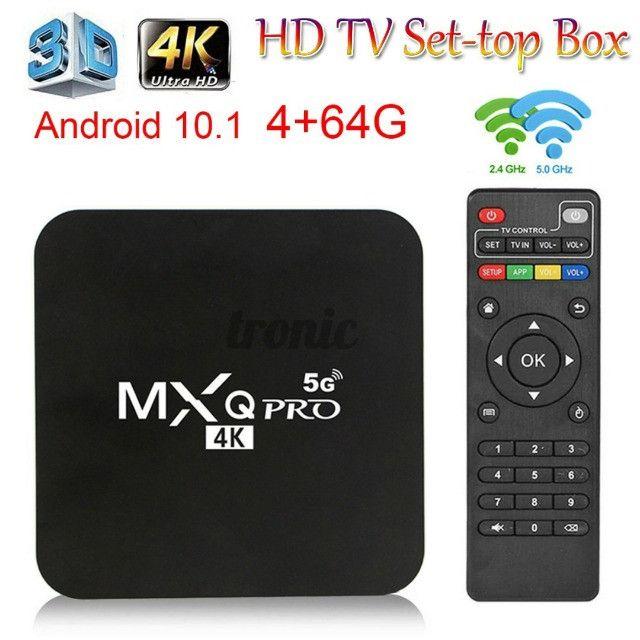 Mxq Tv Box Pro 4k Android 10.1 mais Mini Teclado Led Controle Bluetooth - Foto 4