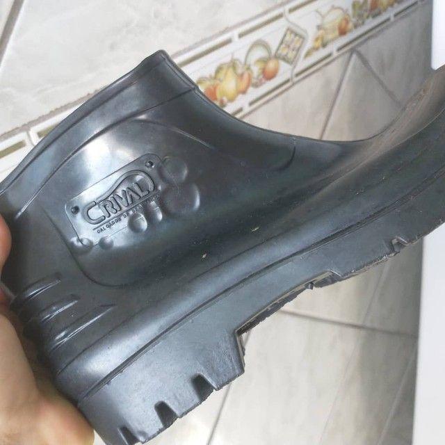 Bota sapato N 37,Cano curto,Borracha,Crival,NOVA/ACEITO TROCA - Foto 4