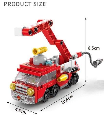 Blocos De Montar 6 Em 1 Presente Dia Das Crianças Lego - Foto 4