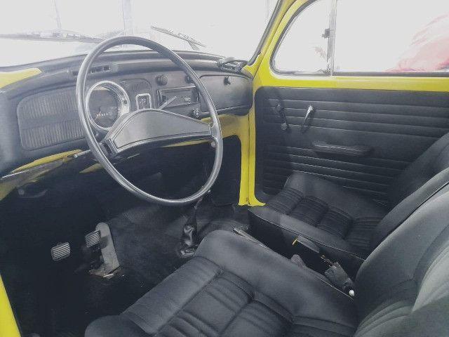 Fusca 1300L 1977 - Placa preta 100% original - Foto 8