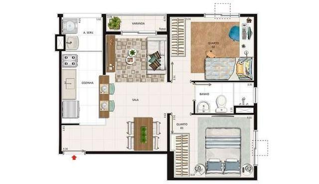 Vista alegre, iraja, Lançamento apartamento 2 Qts, entrada parcelada, faça simulação - Foto 2