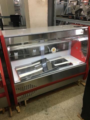 Balcão refrigerado para carnes com bandejas em inox - tamanho 1,50m - Foto 5