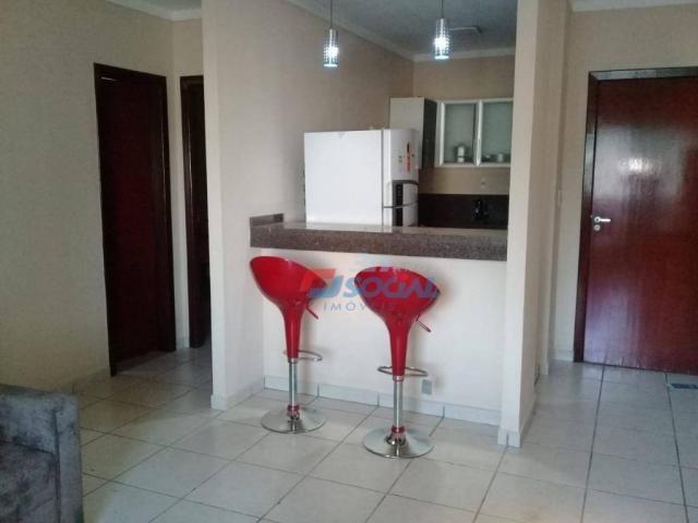 Excelente apartamento mobiliado para locação, cond. porto velho service, apt 207, porto ve - Foto 4