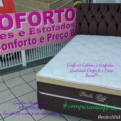 Cama Box Casal Cristalflex Colchão de molas ensacadas R$ 1099 em até 10x nos cartões