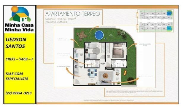UED-23 - Apartamento térreo com quintal de 26 metros quadrados